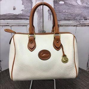 Dooney & Bourke Pebbled Leather White Speedy